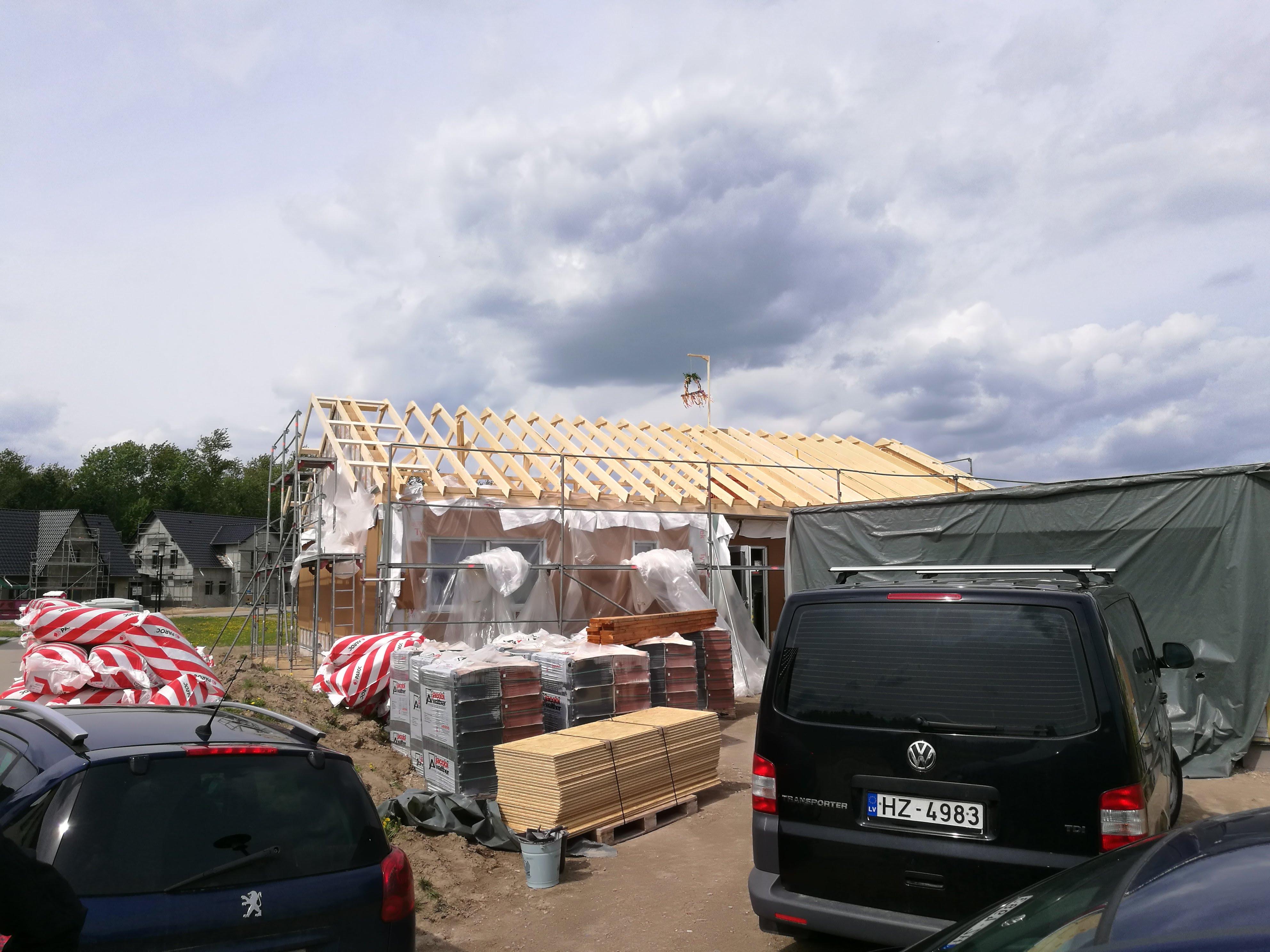 Montage erstes Latvia House Tag 4-6