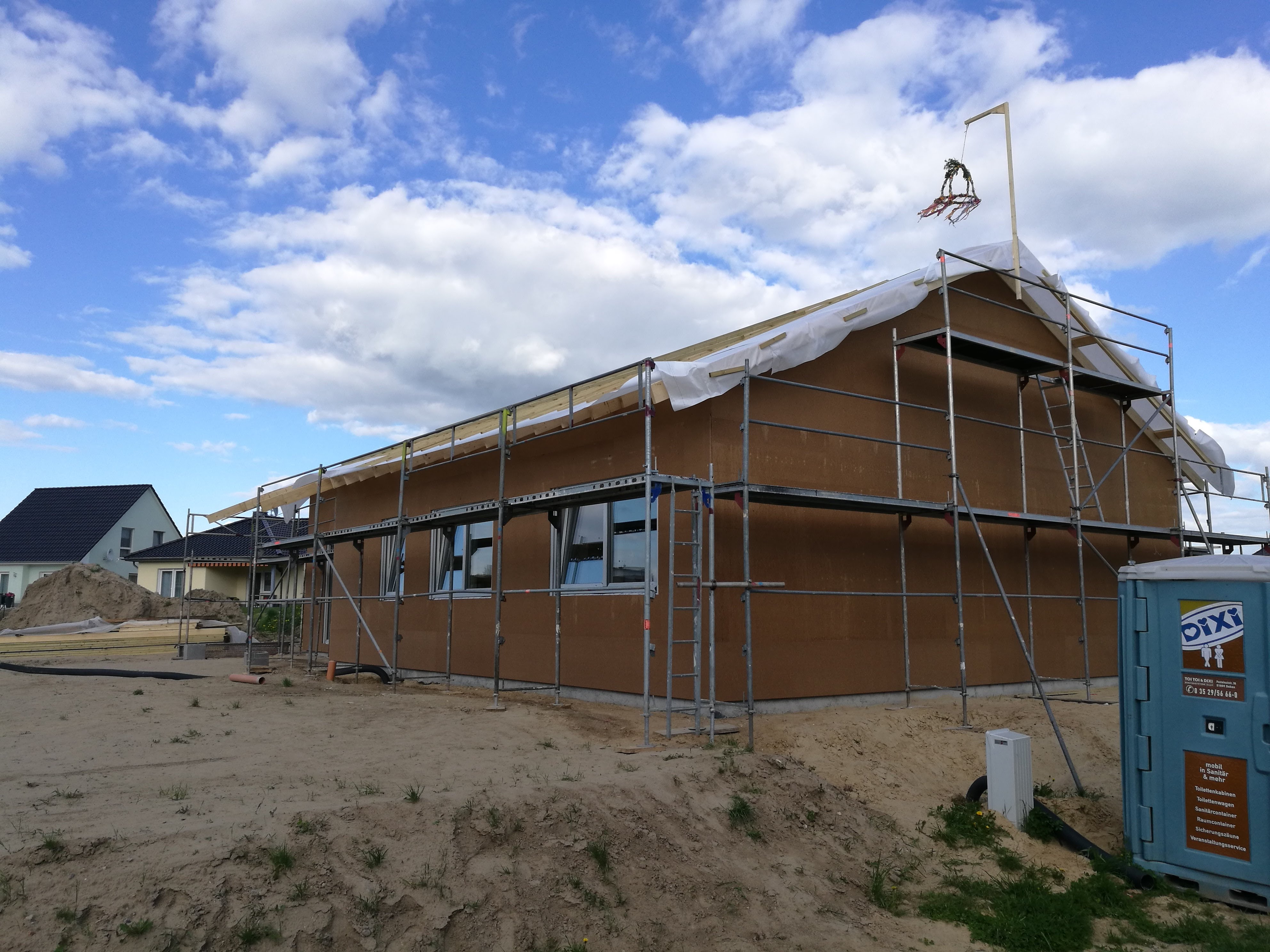 Montage erstes Latvia House Tag 7