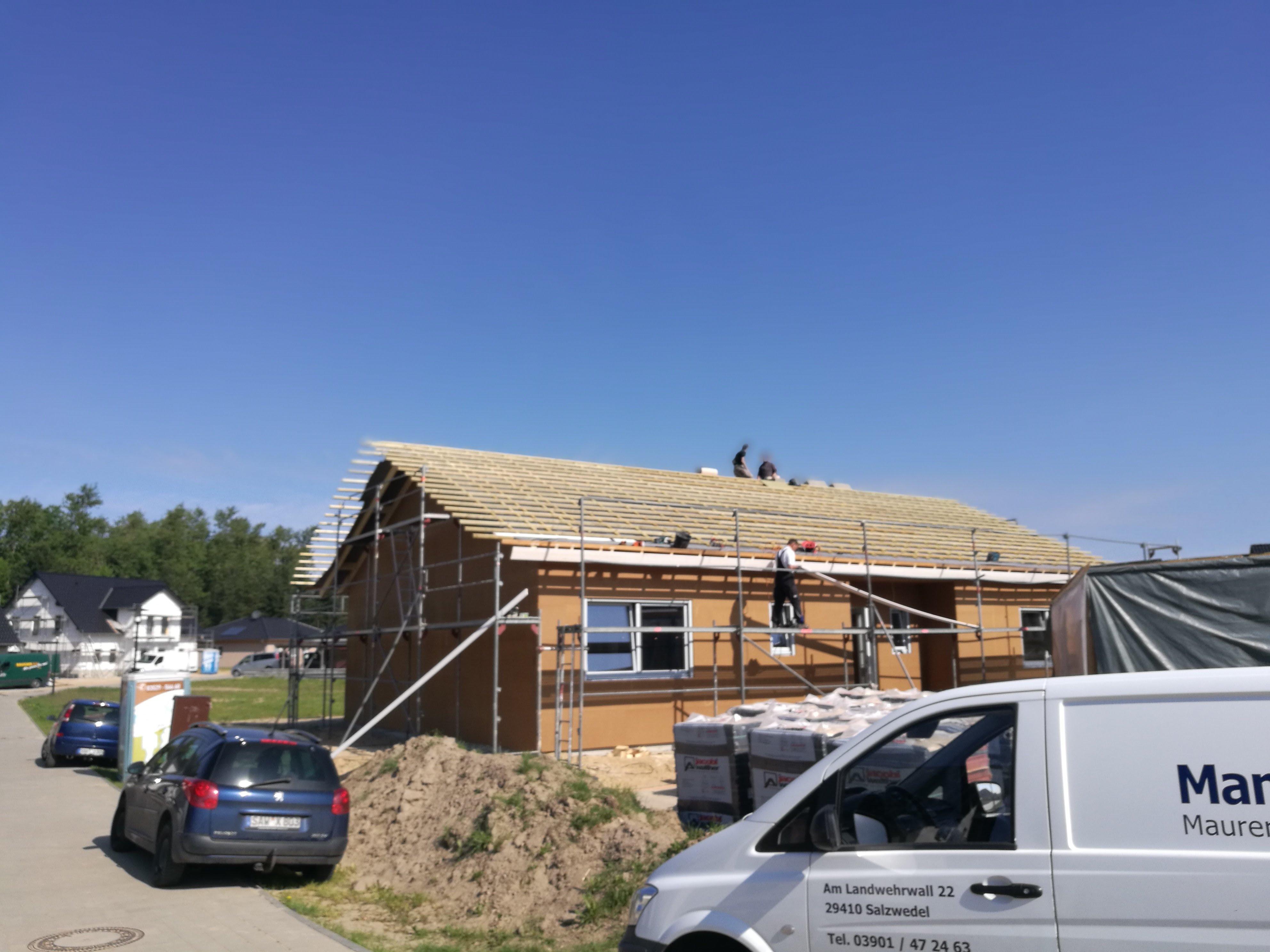 Montage erstes Latvia House Tag 8-11