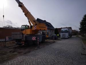 LKW aus Lettland wartet auf die Entladung